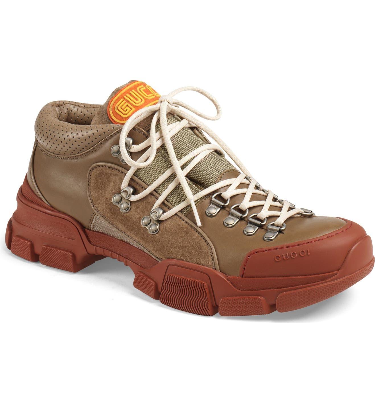 0066fa39c Gucci Leather & Original GG Trekking Boot (Men) | Nordstrom