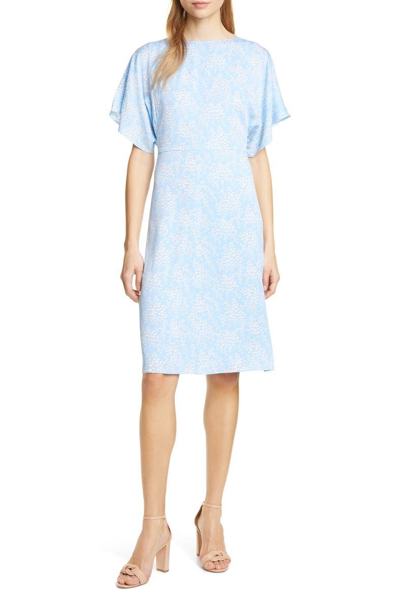 LEWIT Stretch Silk Dress, Main, color, 450