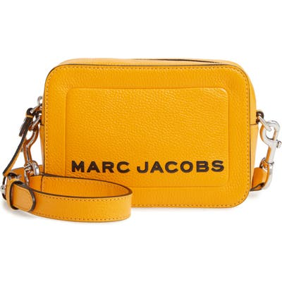 Marc Jacobs The Box Leather Crossbody Bag - Yellow