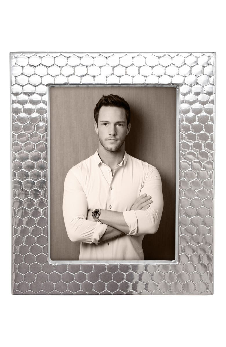 MARIPOSA Honeycomb Picture Frame, Main, color, SILVER