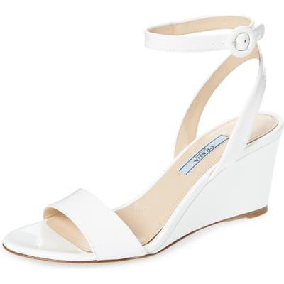 Prada Wedge Sandal - White (Nordstrom Exclusive)