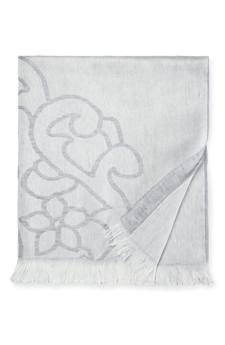 SFERRA Lassia Throw Blanket, Main, color, GREY