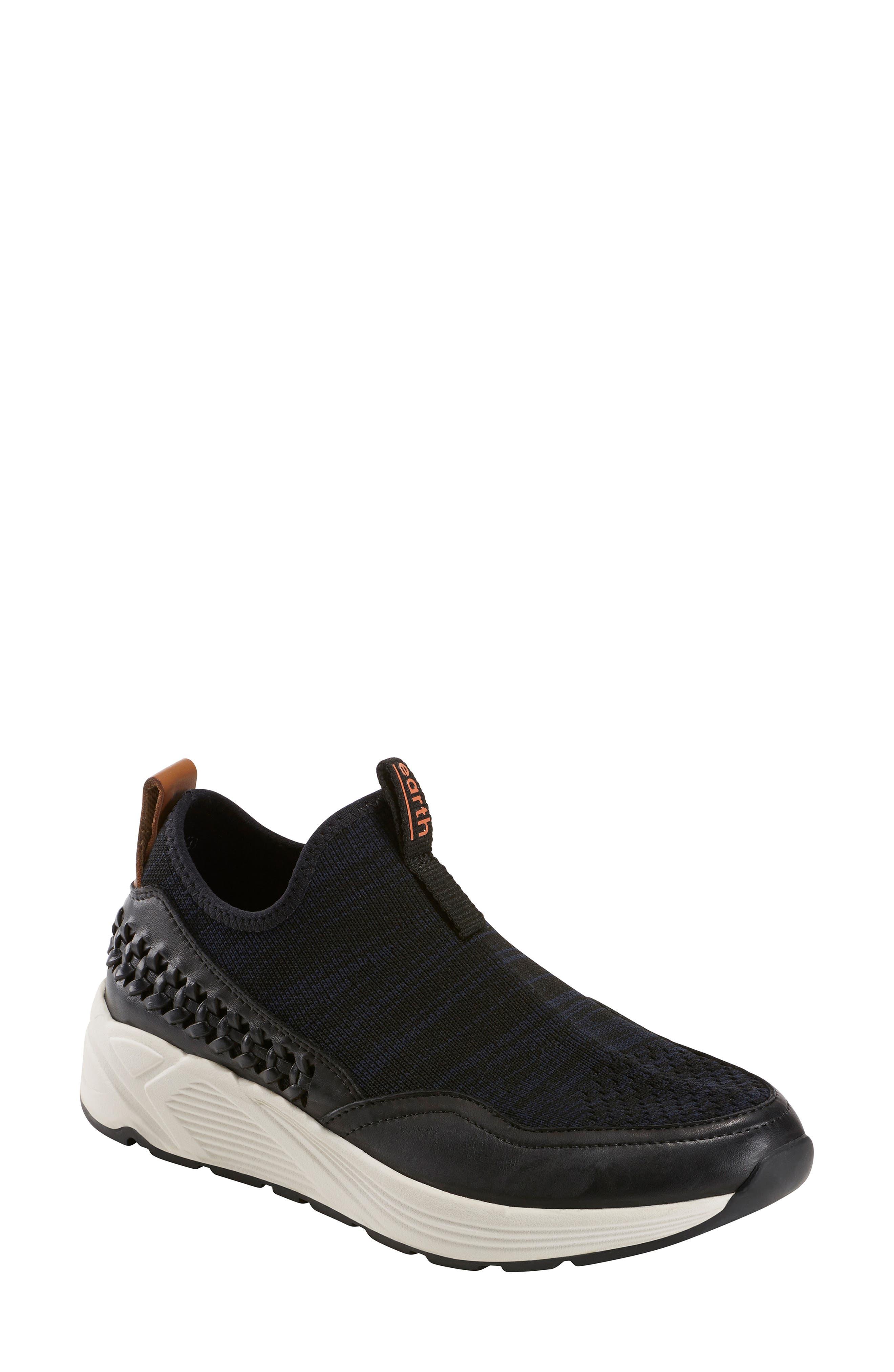 Ramble Sneaker, Main, color, BLACK LEATHER