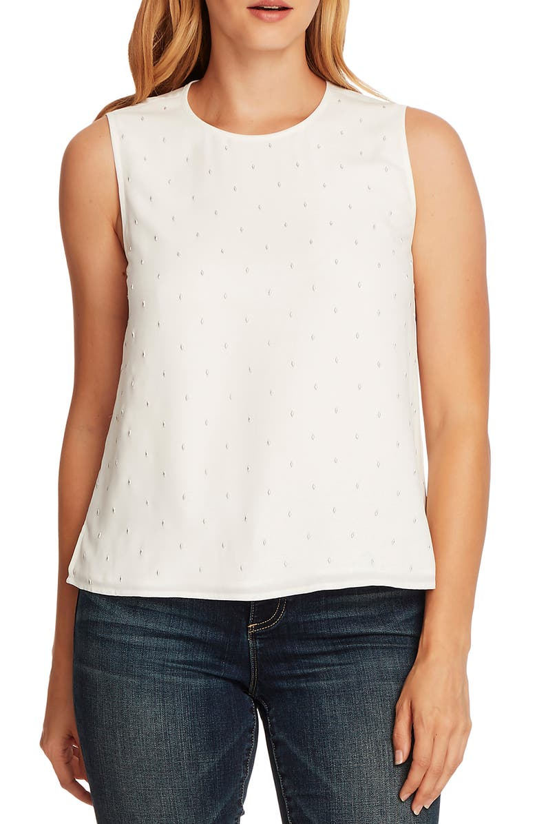 VINCE CAMUTO Embellished Sleeveless Blouse, Main, color, 144