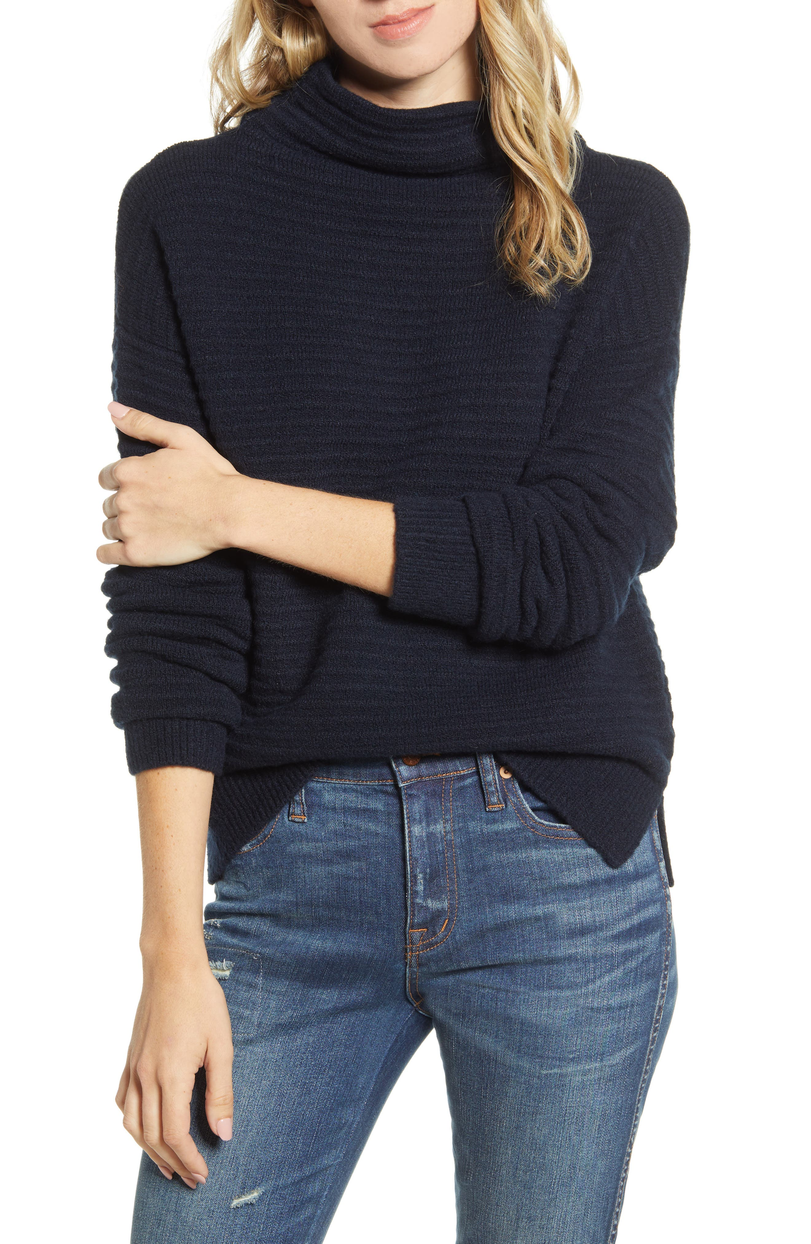 Madewell Belmont Mock Neck Sweater (Regular & Plus Size)