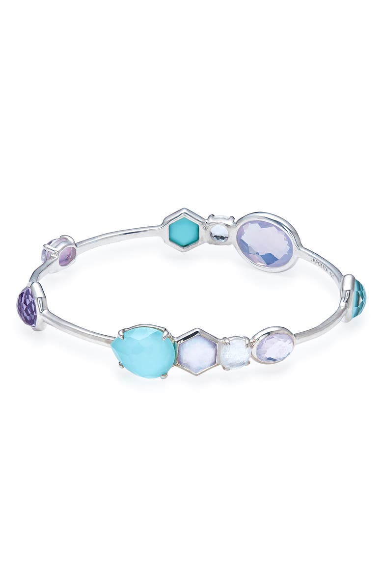 IPPOLITA Rock Candy Gelato Station Bangle, Main, color, LIOLET