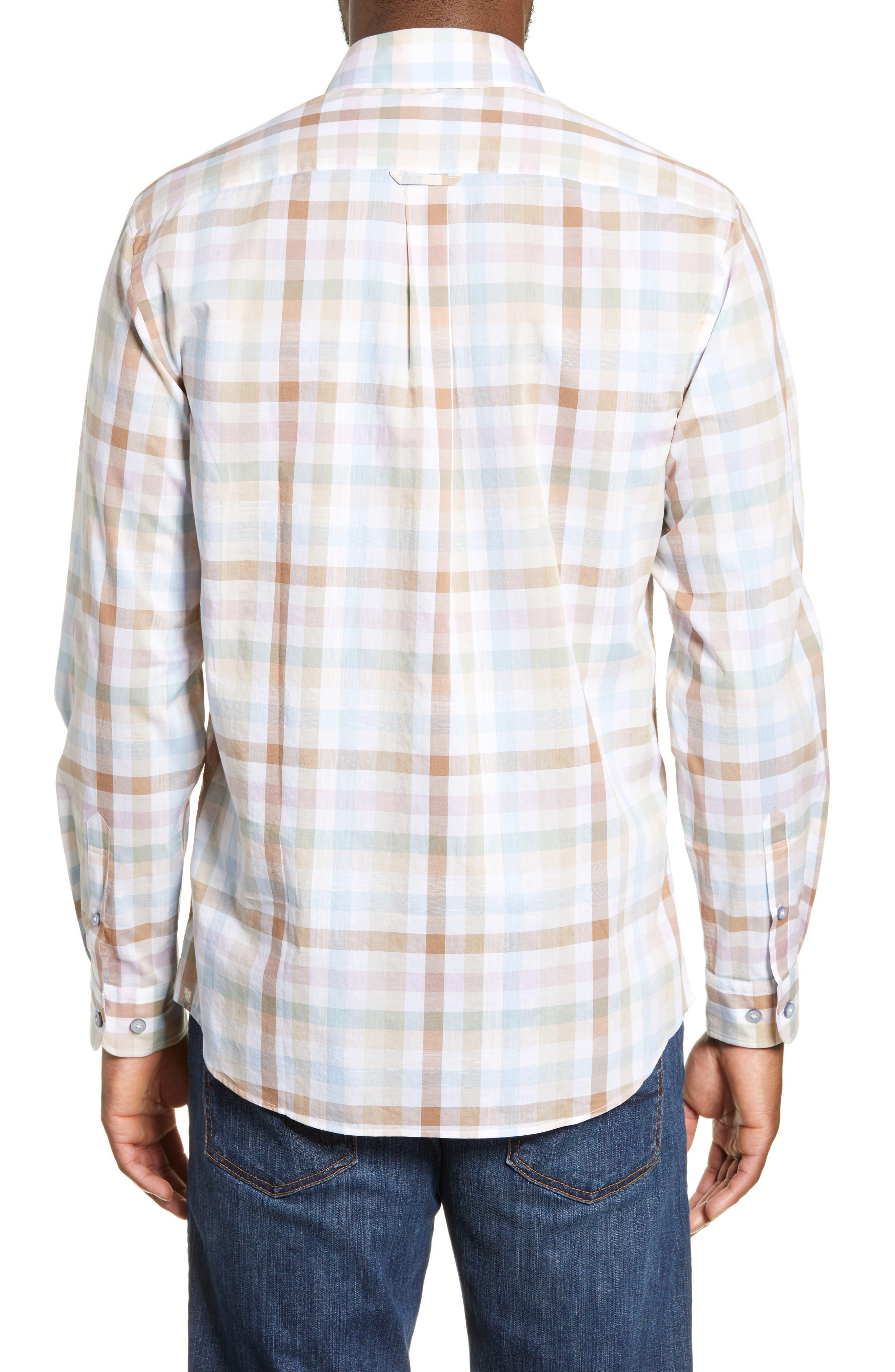 ,                             Collingwood Regular Fit Check Cotton Sport Shirt,                             Alternate thumbnail 3, color,                             WALNUT