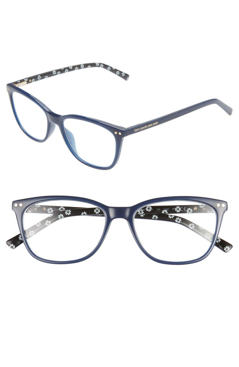 KATE SPADE NEW YORK tinlee 52mm reading glasses, Main, color, 401