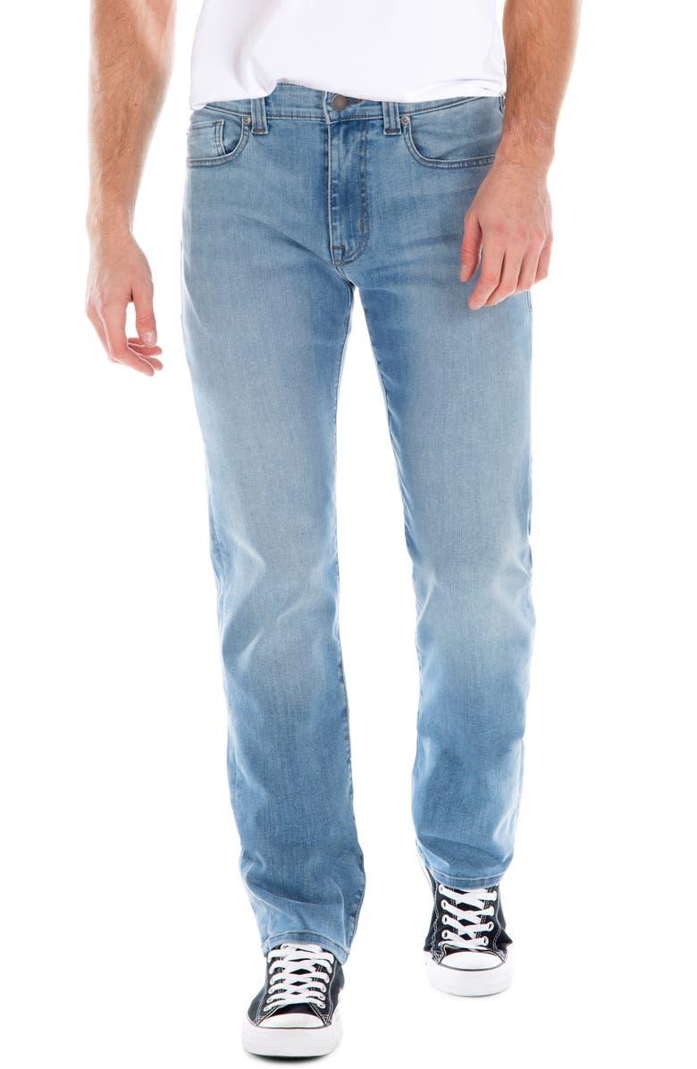 FIDELITY DENIM Jimmy Slim Straight Leg Jeans, Main, color, ISLAND
