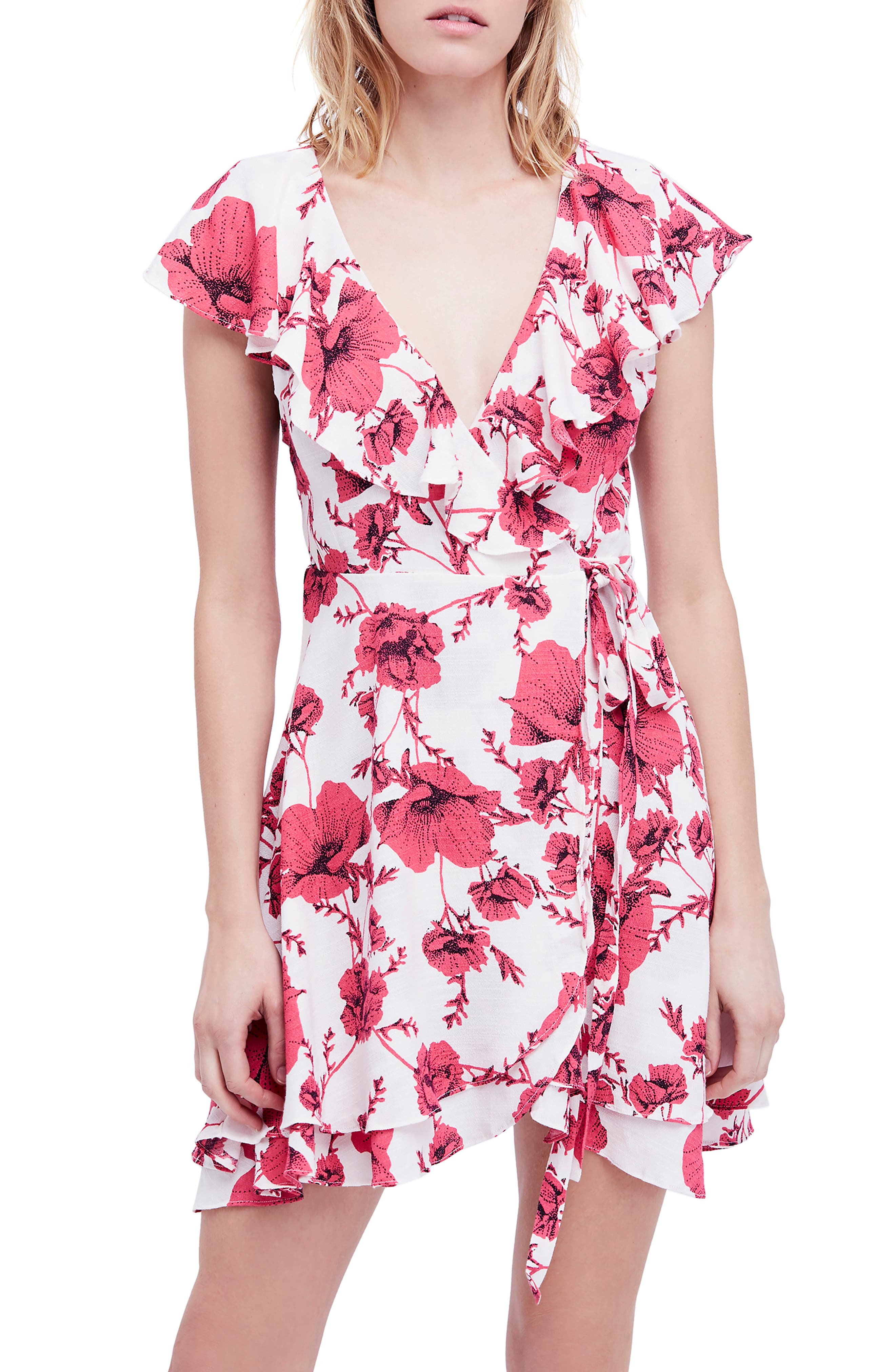 Image of Free People French Quarter Print Wrap Minidress