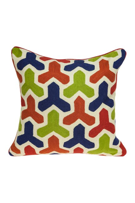"Image of Parkland Collection Handmade Canis Transitional Pillow - 20"" x 20"" - Multi"