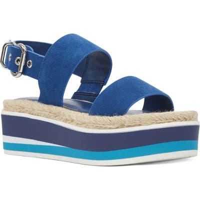 Nine West Athena Slingback Platform Sandal, Blue