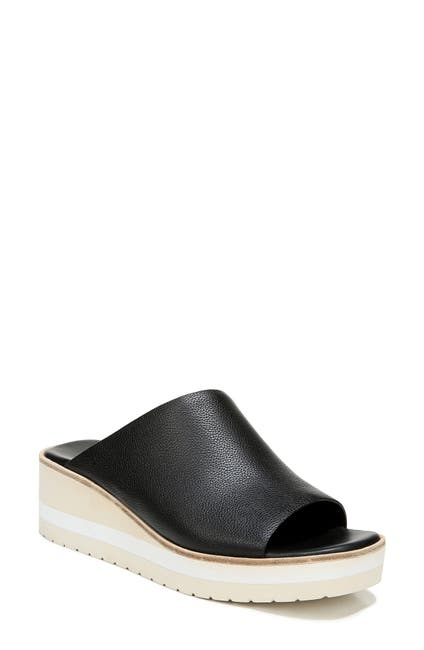 Image of Vince Sarria Leather Wedge Sandal