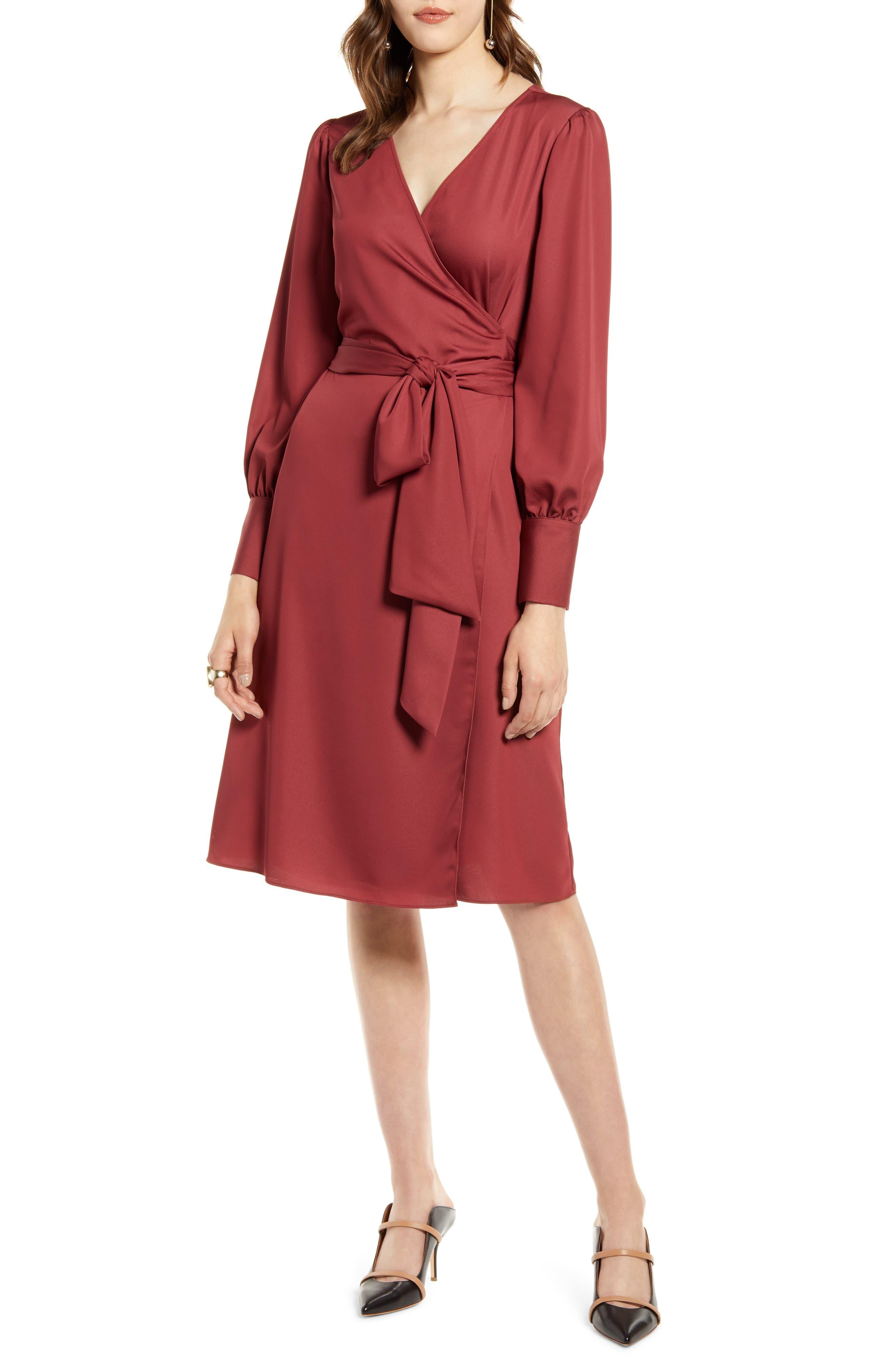 Halogen® Wrap Dress (Regular & Petite)