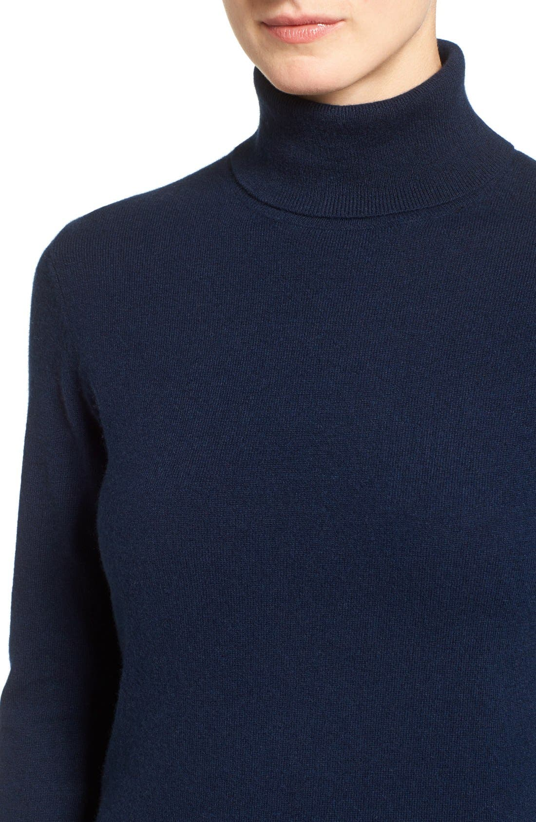 ,                             Long Cashmere Turtleneck Sweater,                             Alternate thumbnail 32, color,                             410