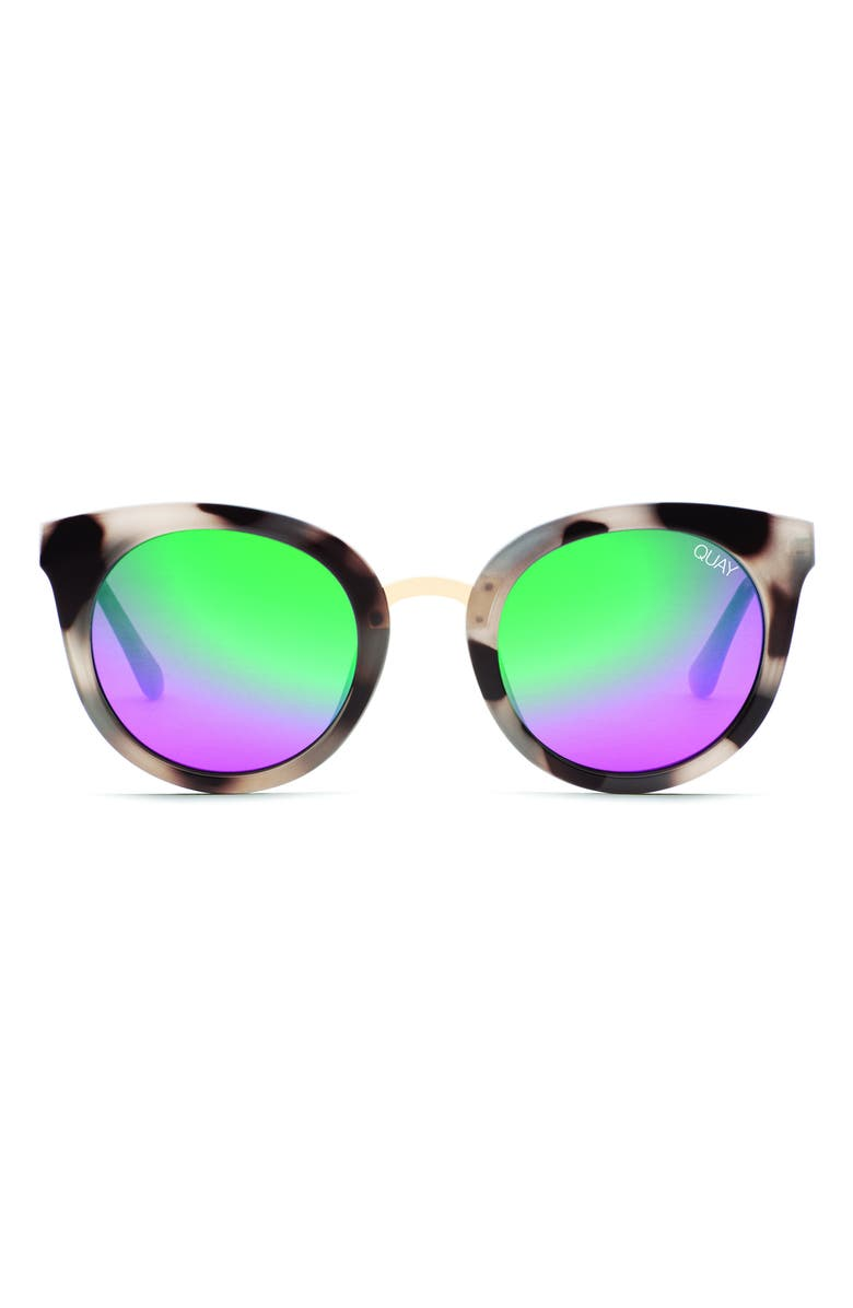 QUAY AUSTRALIA Shook Cat Eye 51mm Sunglasses, Main, color, MILKY TORT/ PINK