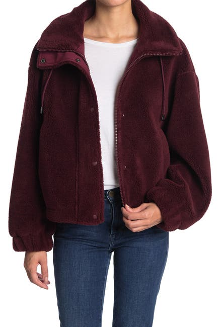 Image of Elodie A-Line Faux Shearling Jacket