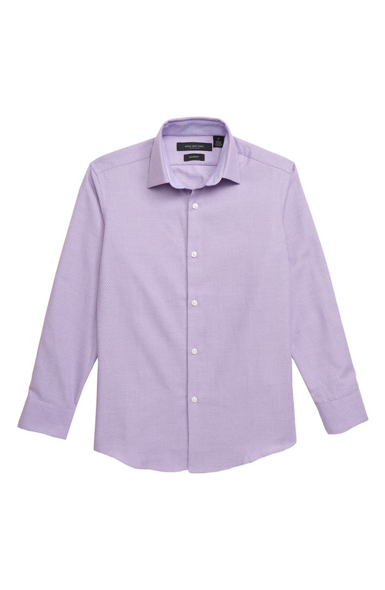 ANDREW MARC Mini Diamond Dress Shirt, Main, color, LILAC