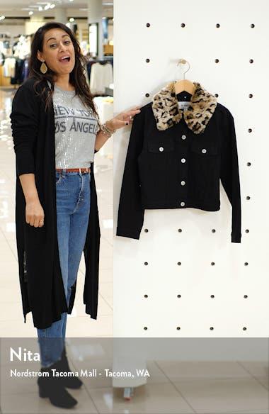 Can't Meow Denim Jacket with Removable Faux Fur Trim, sales video thumbnail