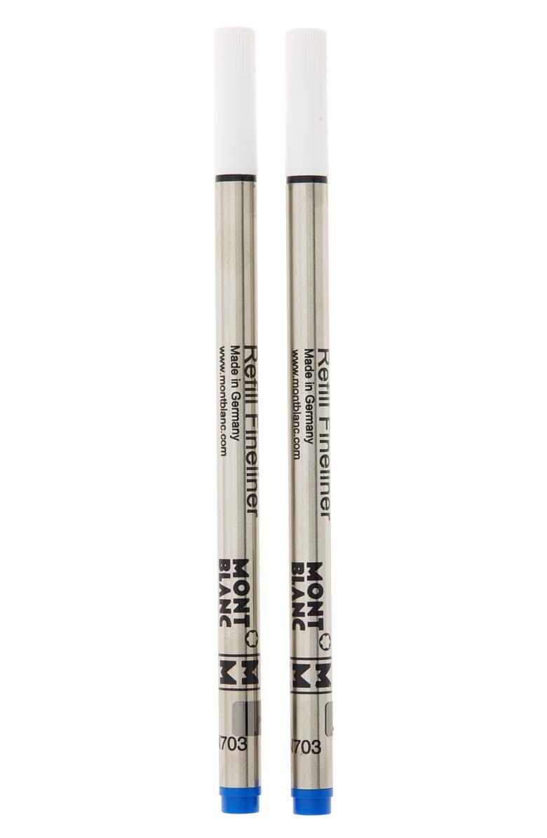 MONTBLANC 2-Pack Medium Fineliner Refills, Main, color, PACIFIC BLUE