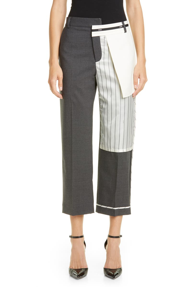 MONSE Inside Out Stretch Wool Crop Pants, Main, color, 010