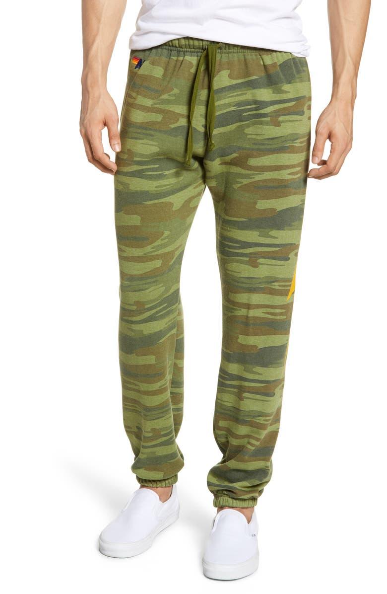 AVIATOR NATION Bolt Slim Fit Sweatpants, Main, color, CAMO