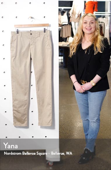 Flat Front Solid Stretch Cotton Chino Trousers, sales video thumbnail
