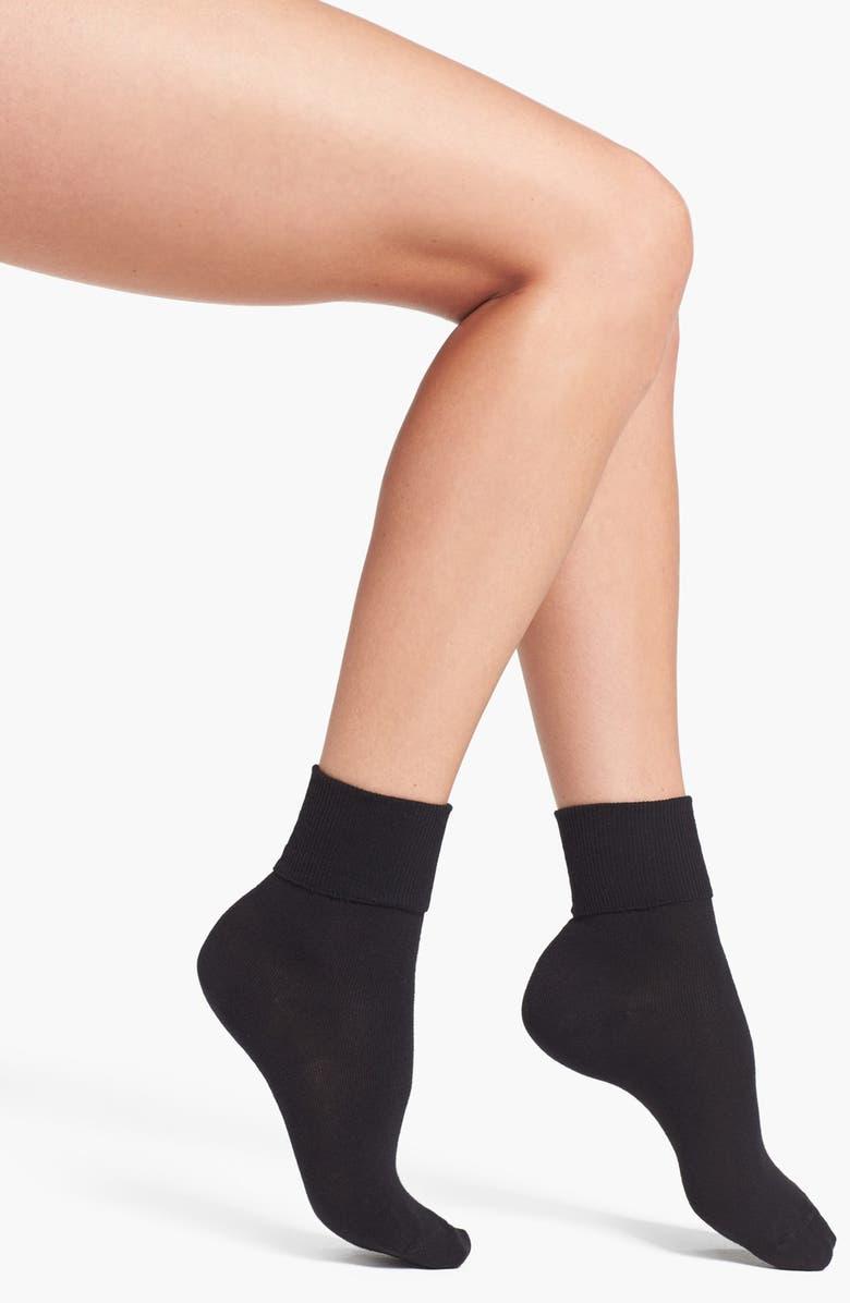 HUE Turncuff Socks, Main, color, 001