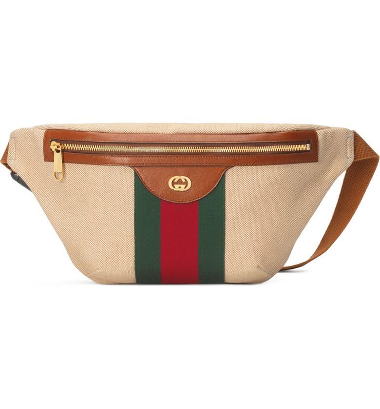 GUCCI GG Vintage Canvas Belt Bag, Main, color, 263