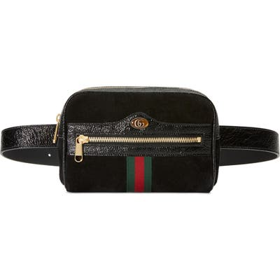 Gucci Ophidia Small Suede Belt Bag - Black
