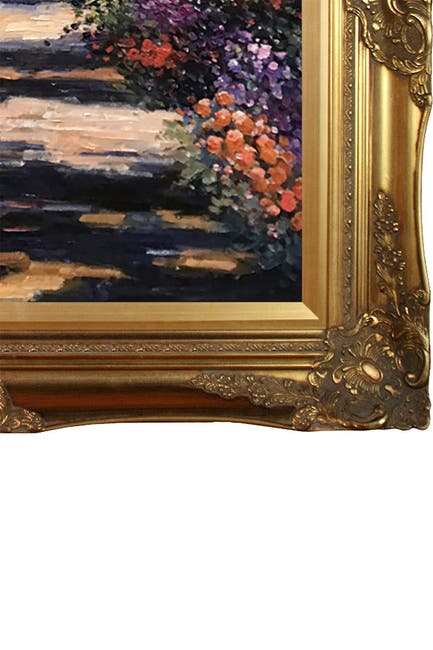 """Image of Overstock Art Madame Monet on the Bridge at Giverny with Victorian Gold Frame - 28"""" x 32"""""""