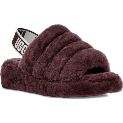Ugg Fluff Yeah Genuine Shearling Slide, Brown
