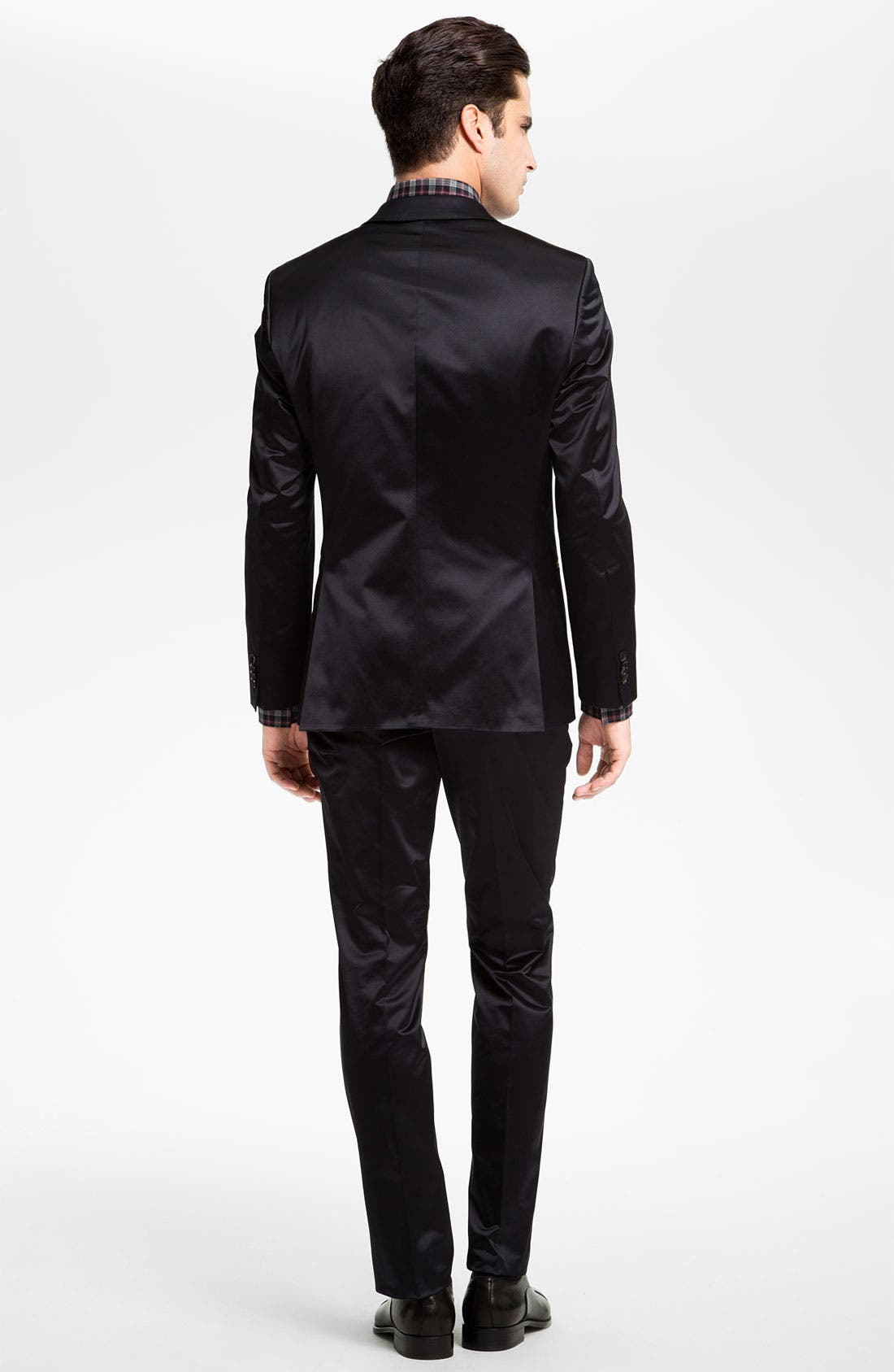 ,                             Black Slim Fit Dress Shirt,                             Alternate thumbnail 5, color,                             410