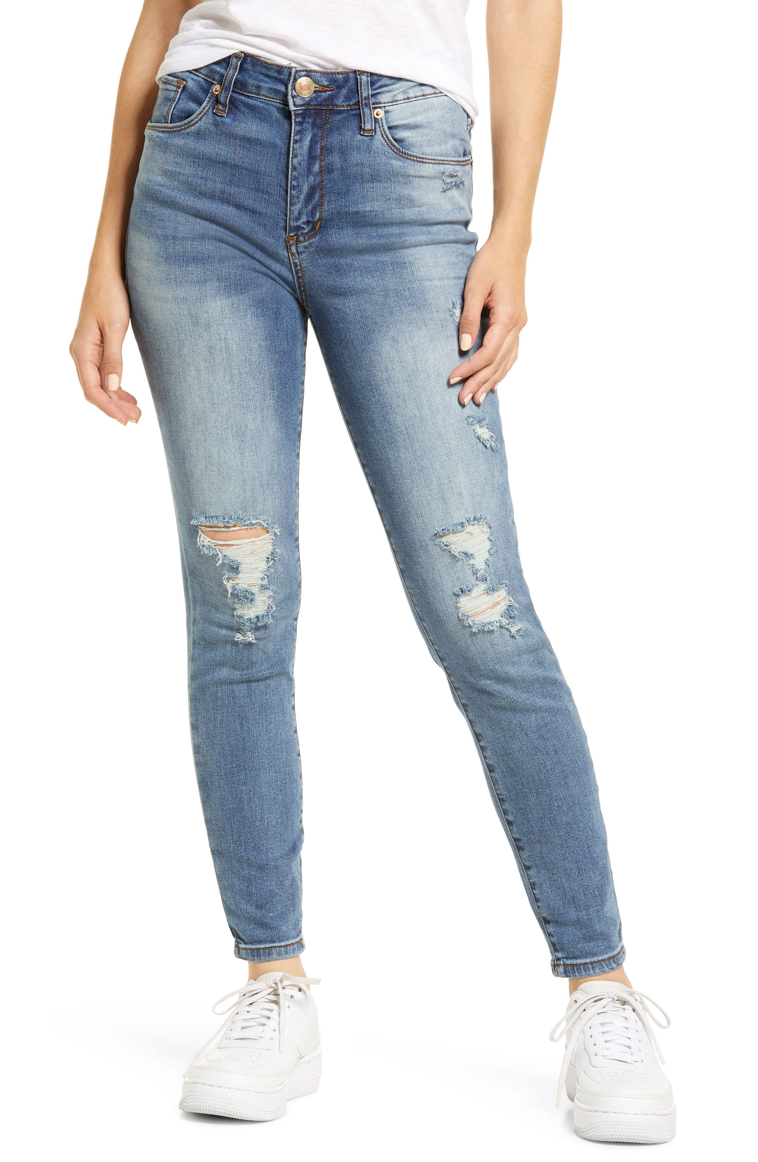 Ellie High Waist Ankle Skinny Jeans