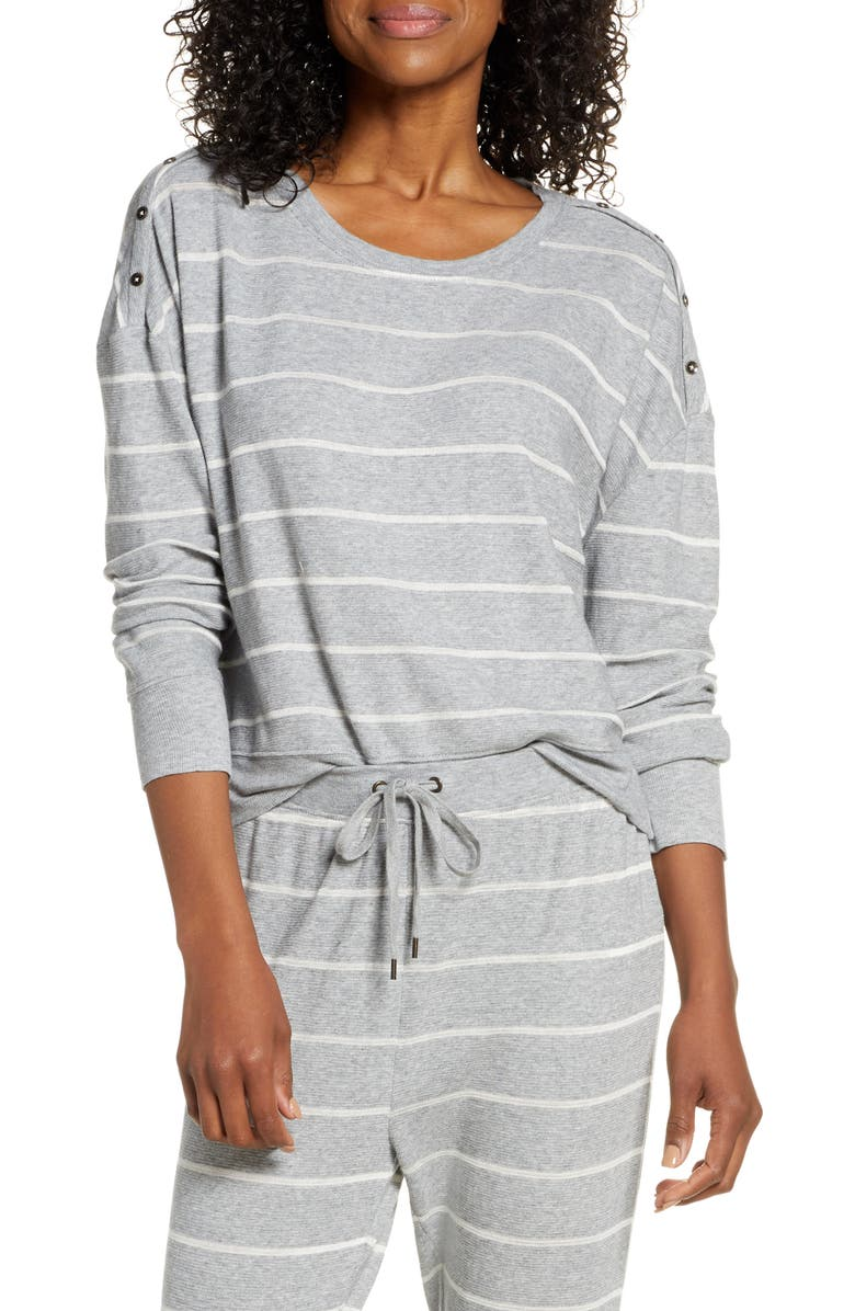 SPLENDID Stripe Pajama Top, Main, color, SOFT STRIPE