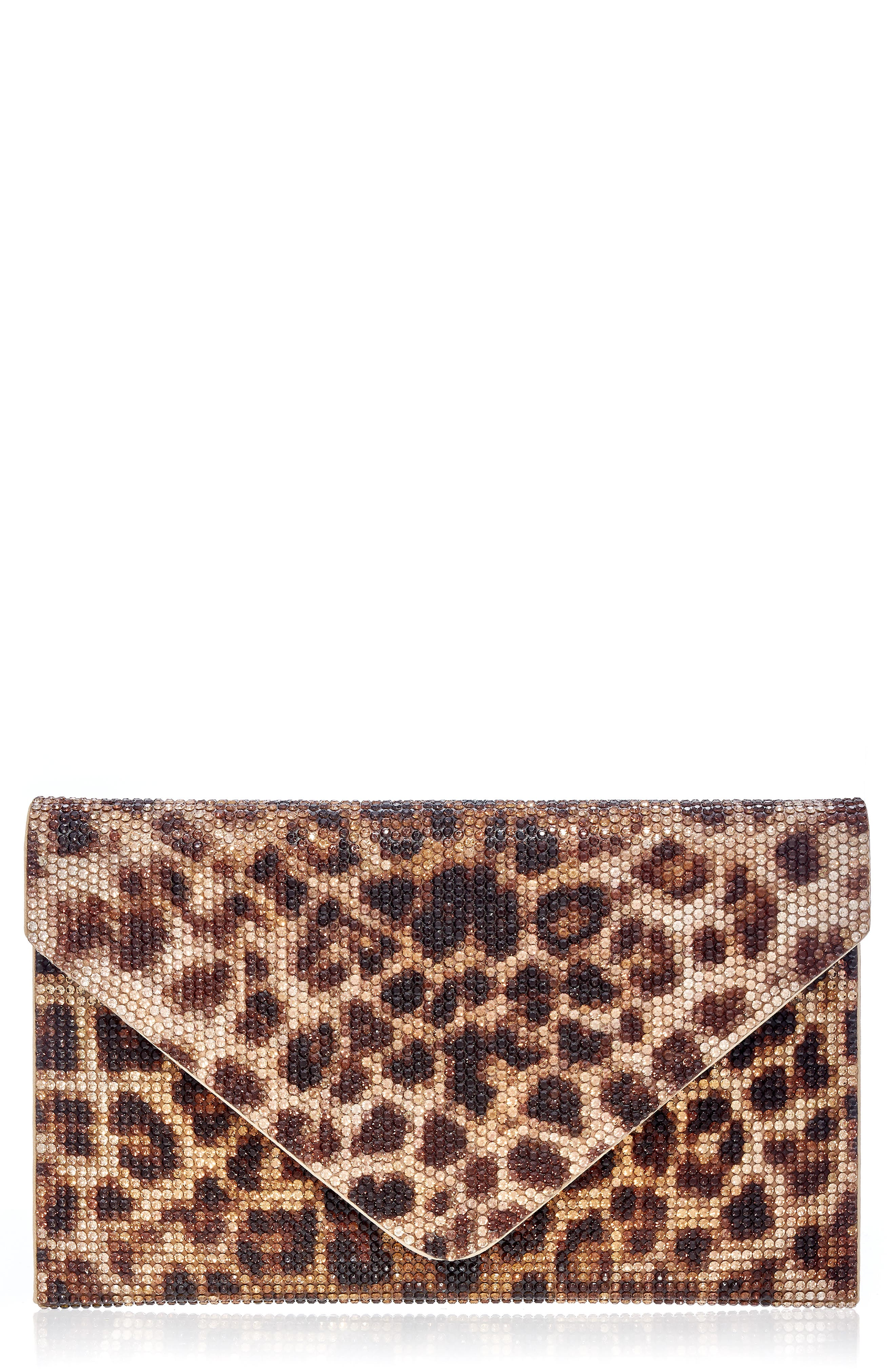 Couture Crystal Leopard Envelope Clutch
