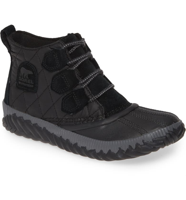 SOREL Out N About Plus Camp Waterproof Bootie, Main, color, OUT N ABOUT PLUS LEATHER