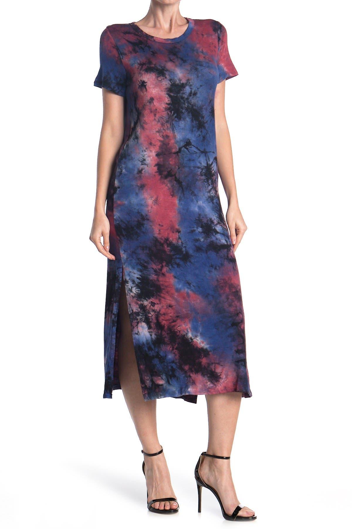 Image of A.Calin Tie-Dye Midi T-Shirt Dress