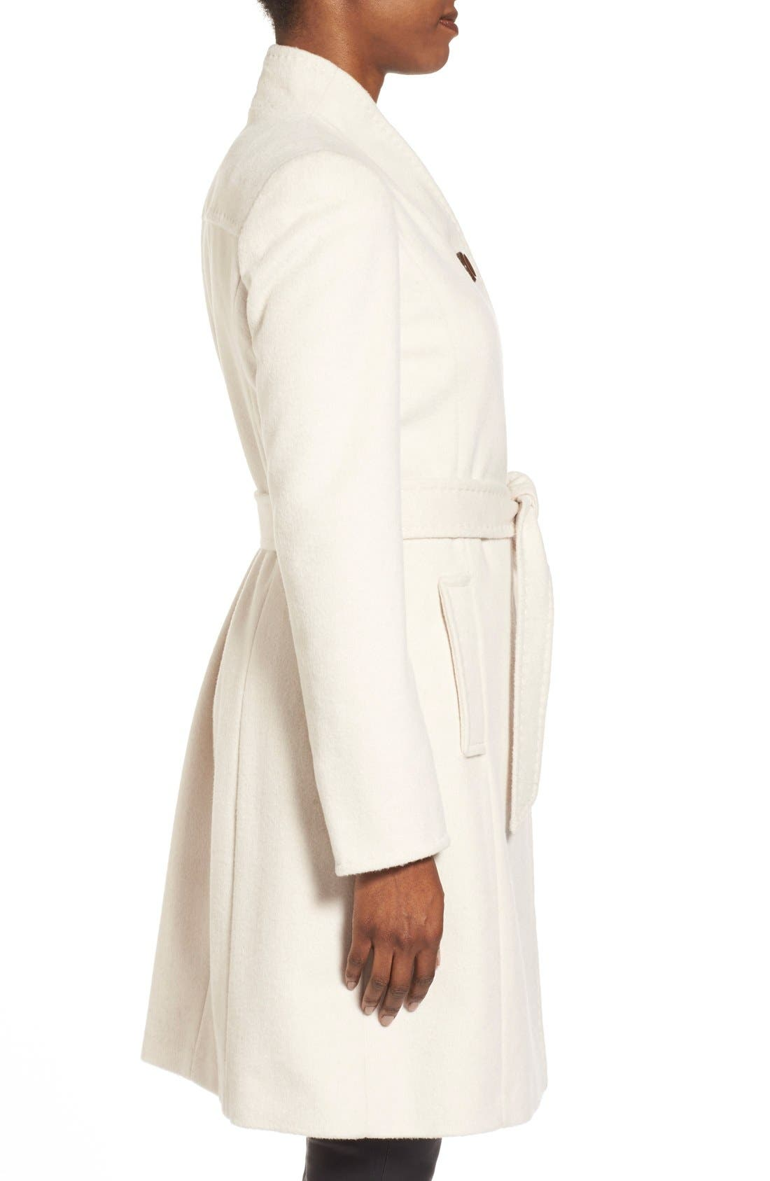 ,                             Belted Wool Blend Stand CollarCoat,                             Alternate thumbnail 12, color,                             112