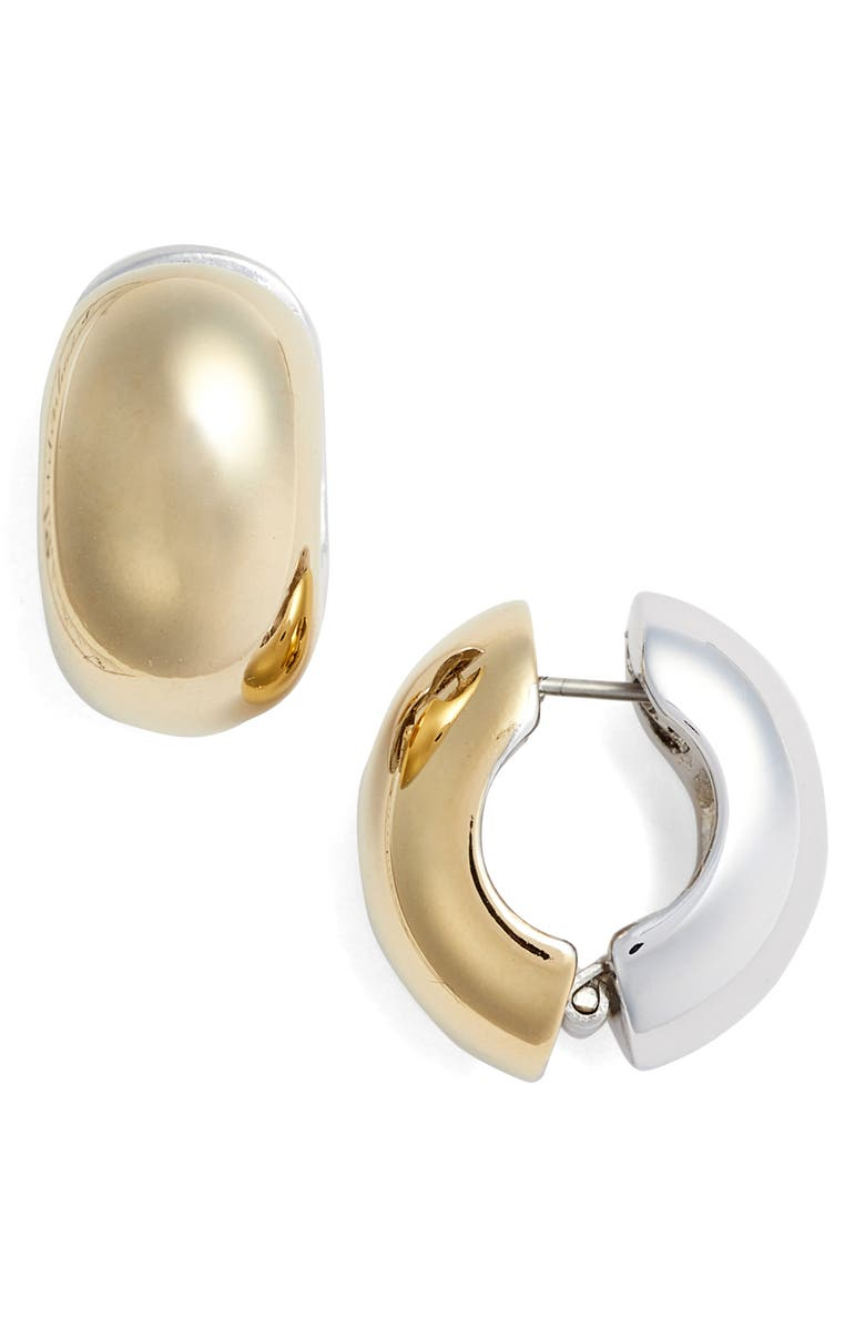Erwin Pearl Two Tone Reversible Hoop Earrings