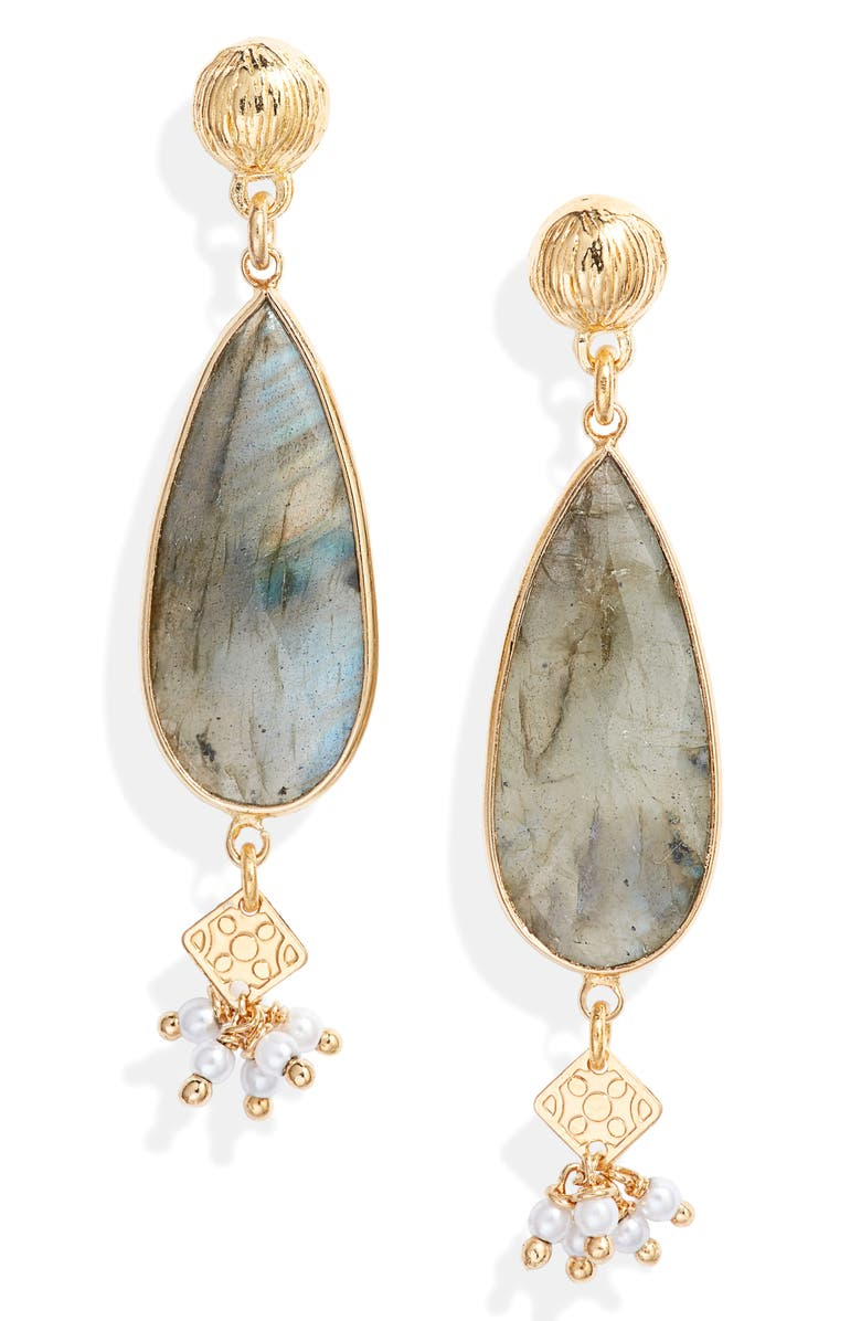 GAS BIJOUX Serti Drop Earrings, Main, color, 001