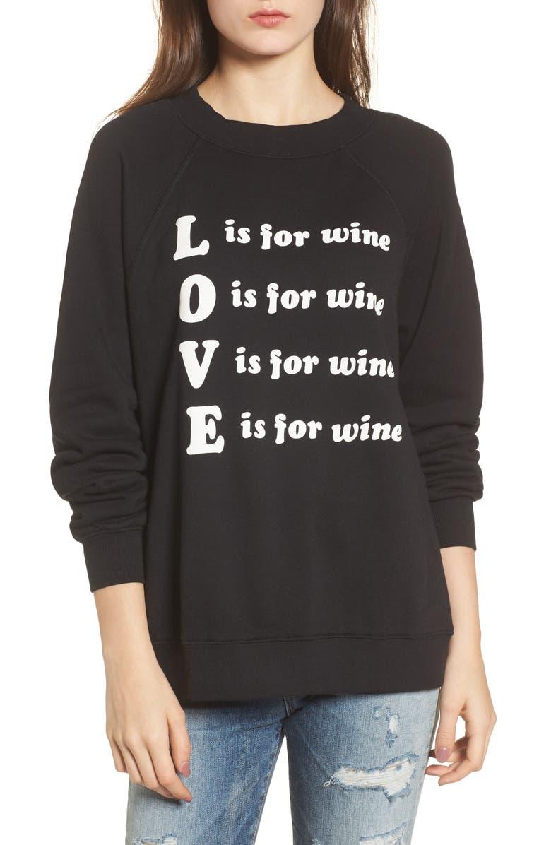 WILDFOX Wino - Sommers Sweatshirt, Main, color, 001