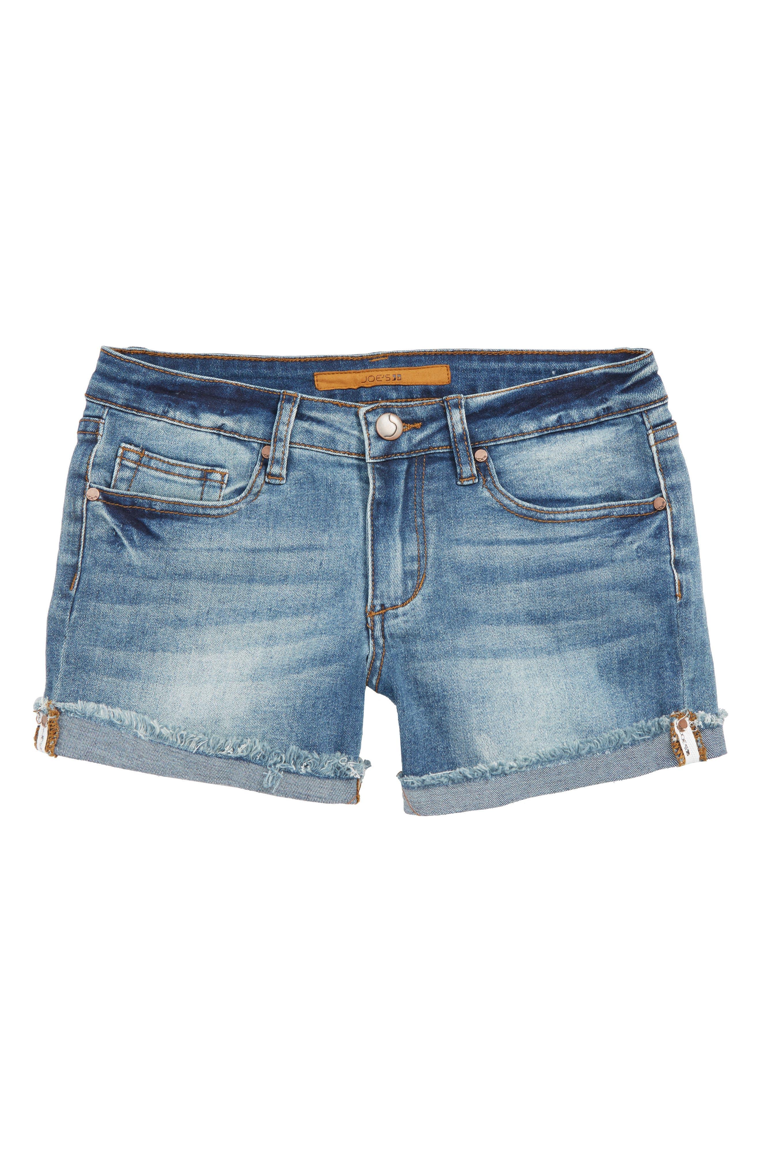 The Markie Mid Rise Shorts, Main, color, MEDIUM WASH