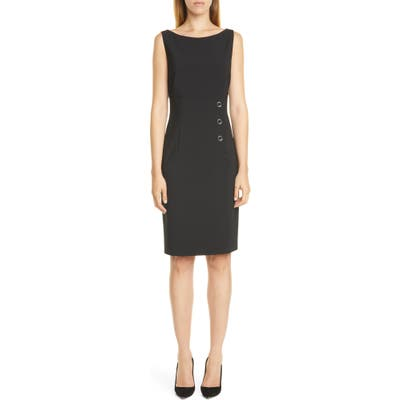 Boss Daciana Stretch Wool Sheath Dress, Black