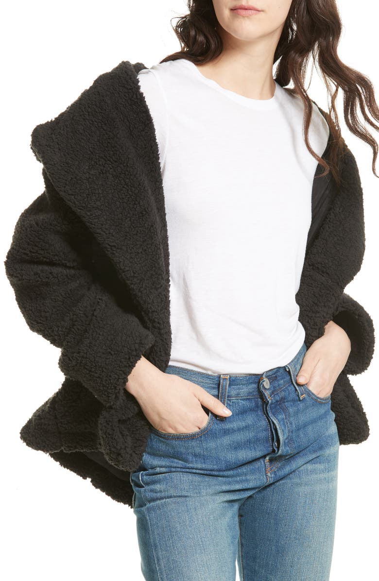 FREE PEOPLE Teddy Peacoat, Main, color, 001