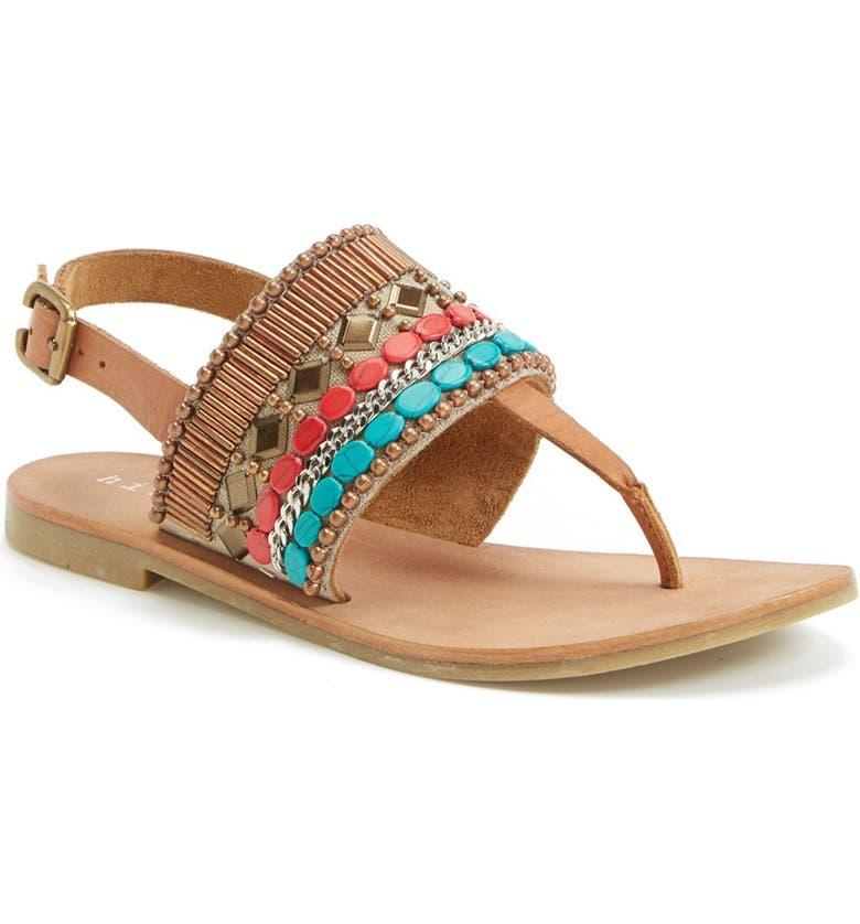 HINGE Beaded Thong Sandal, Main, color, 202