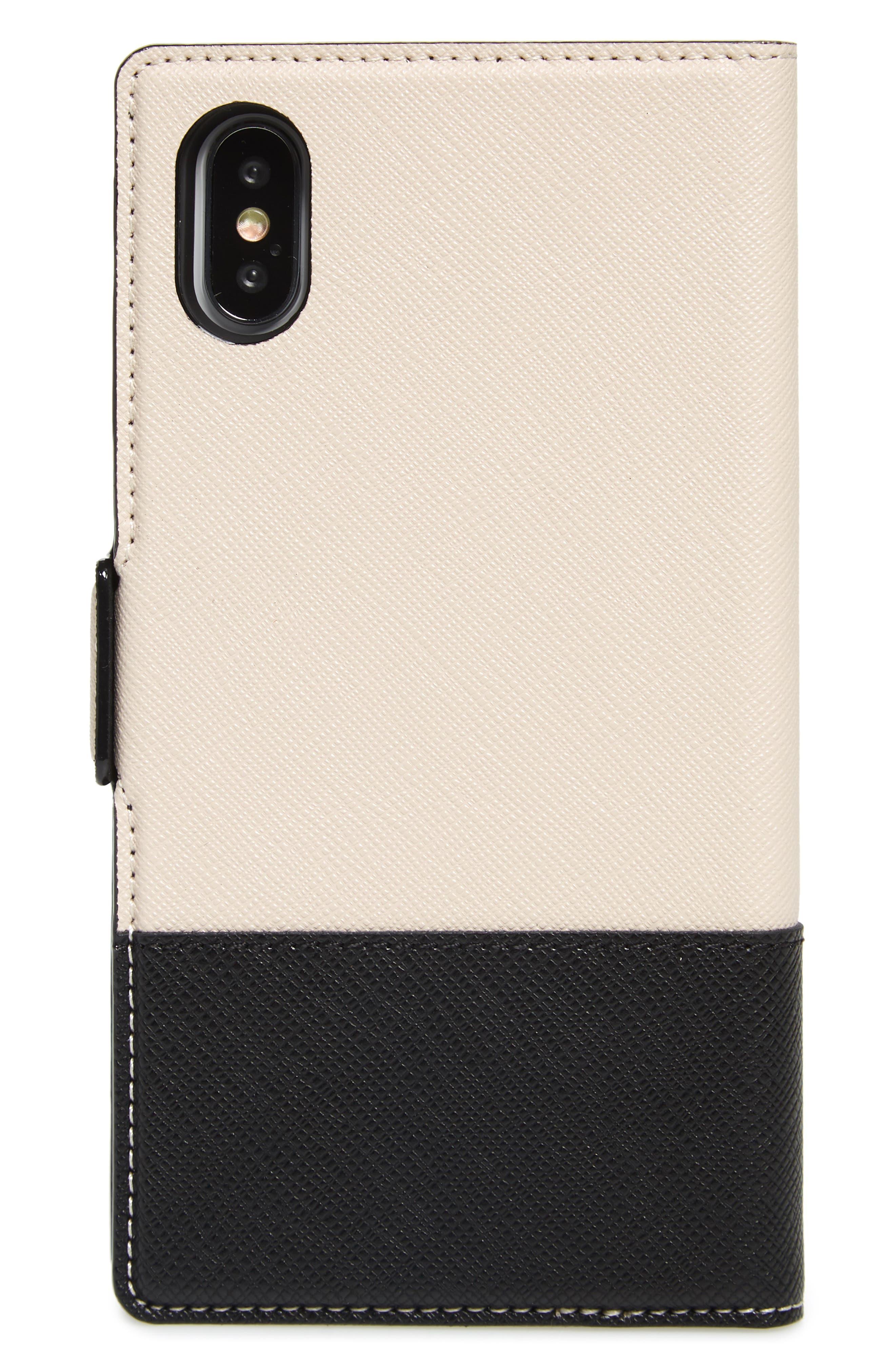 ,                             iPhone X/Xs/Xs Max & XR magnetic wrap folio case,                             Alternate thumbnail 3, color,                             BLACK/ TUSK