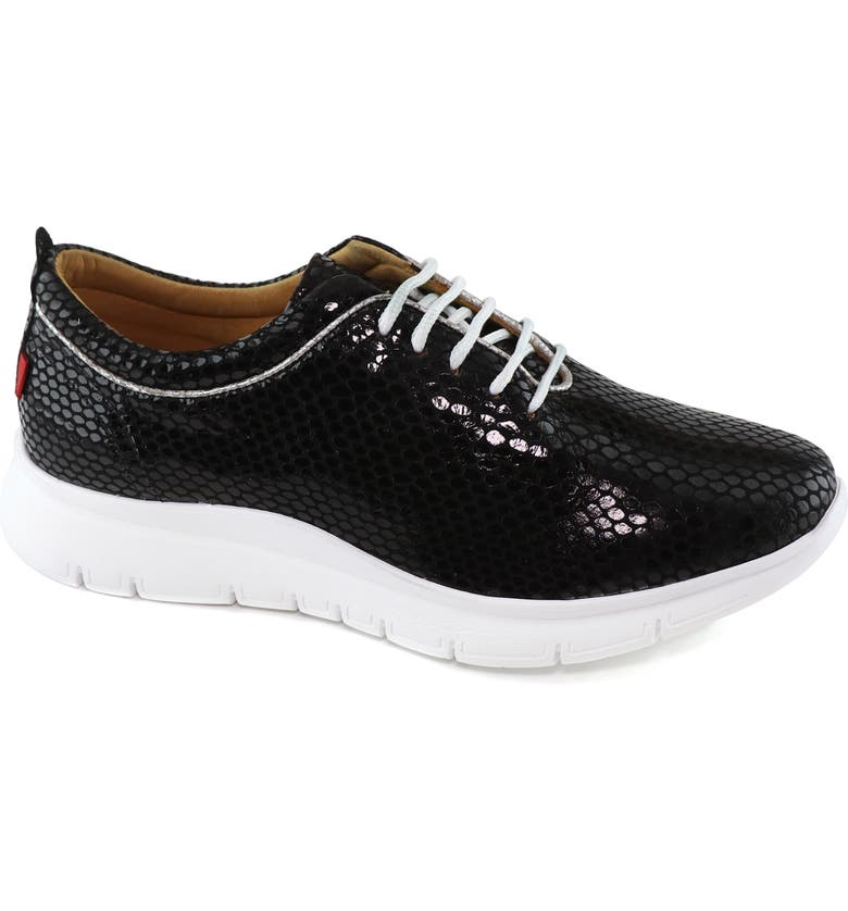 MARC JOSEPH NEW YORK Central Park Sneaker, Main, color, BLACK SNAKE PRINT LEATHER