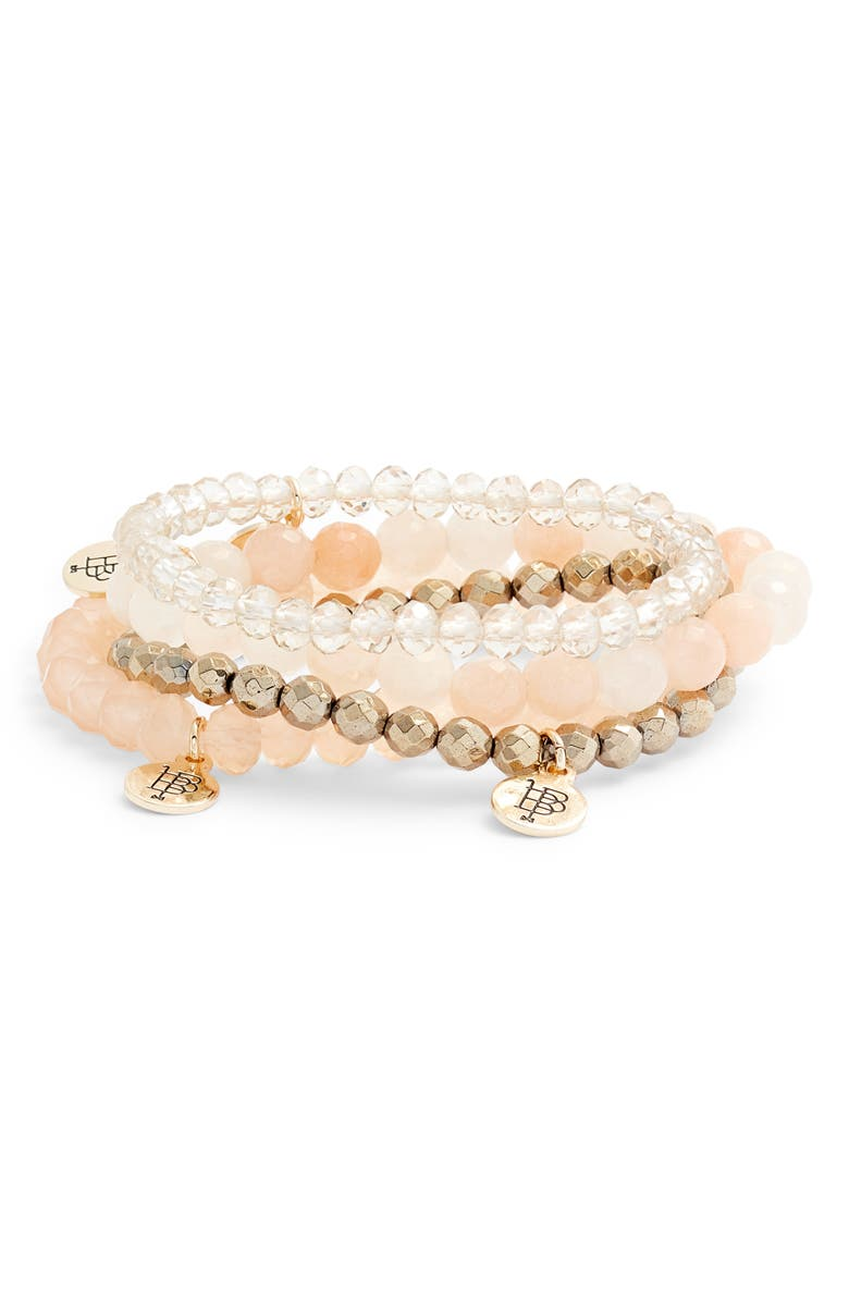 BOURBON AND BOWETIES Set of 4 Beaded Stretch Bracelets, Main, color, 250