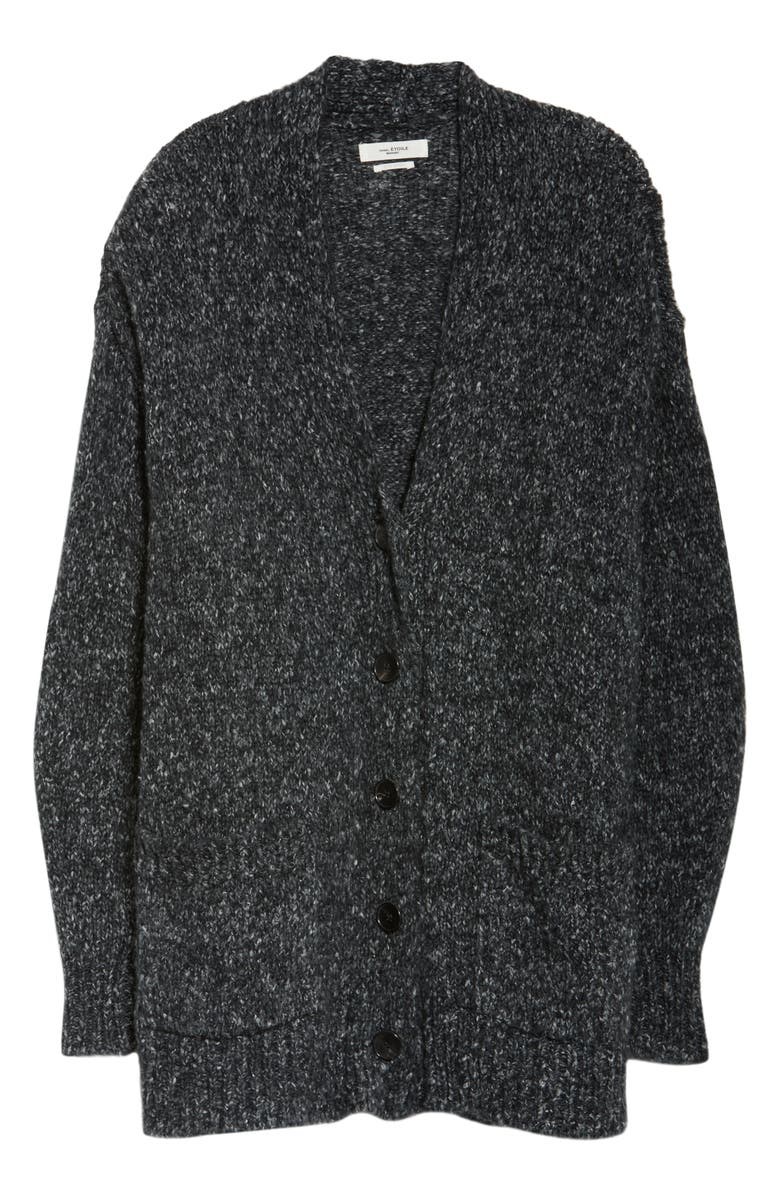 ISABEL MARANT ÉTOILE Scott Marled Cardigan, Alternate, color, ANTHRACITE